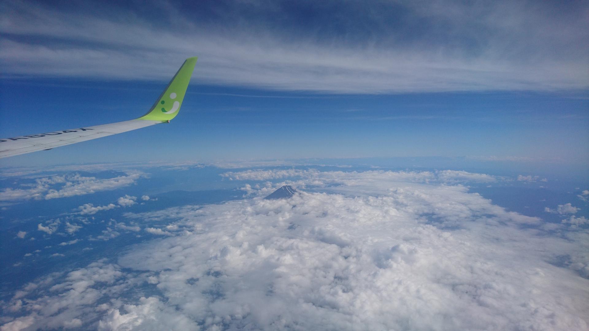 ソラシドエアから富士山チラ見