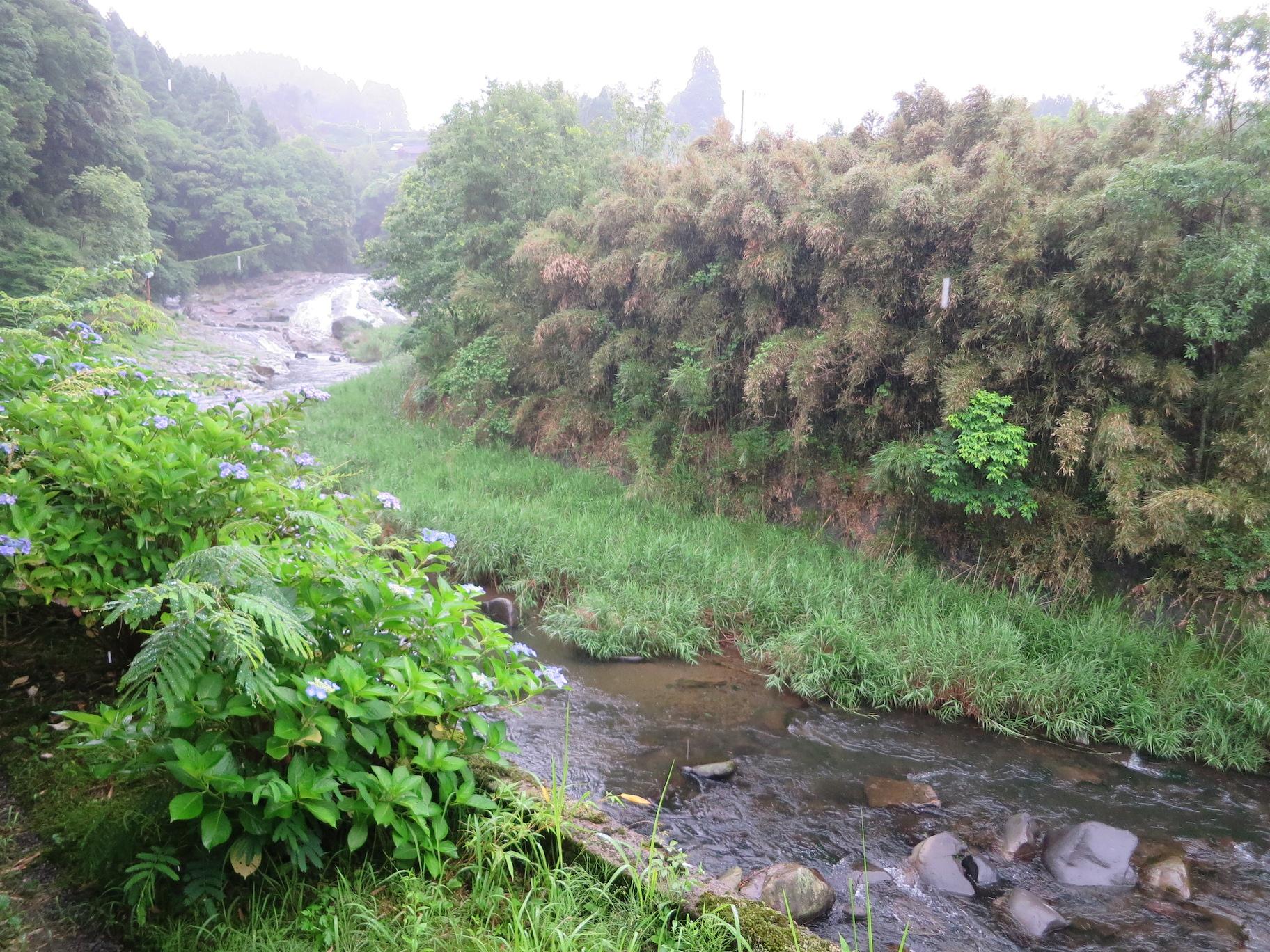 松葉ごろん亭の隣の渓流